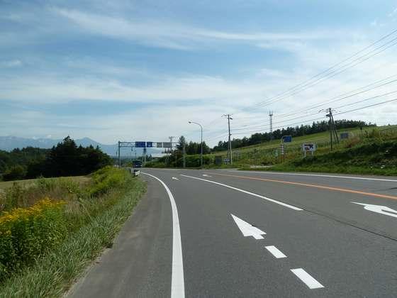 国道237号線上富良野町内