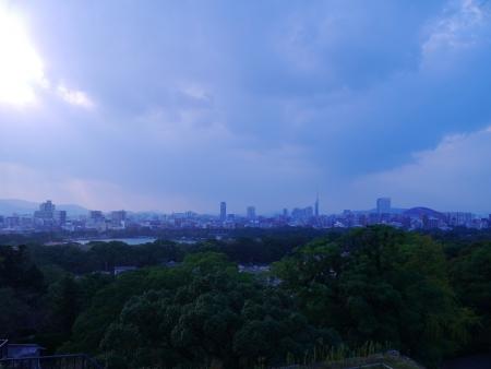 天守台跡からの眺望