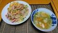 鶏の野菜スープ 春雨サラダ 20180611