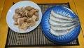 イカと里芋の煮っ転がし めぎすの塩ゆで 20180911
