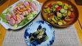 夏野菜のカレー炒め 鴨スライスサラダ 20180716