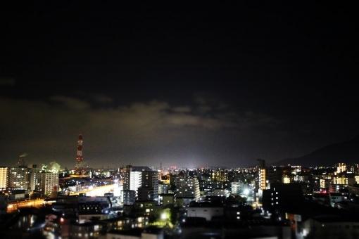 ブラックアウト,夜間停電,夜の景観,景色,夜景