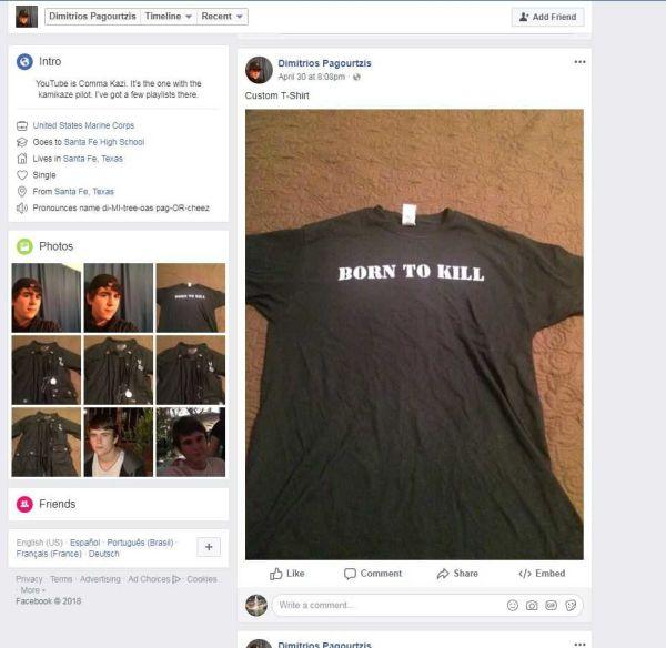米テキサス高校銃乱射、容疑者の写真に日本の旭日旗ピンバッチ!の画像16-2