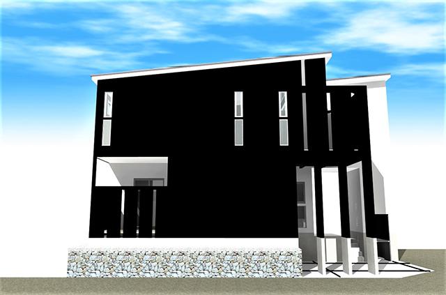 滋賀県 大津市 湖城が丘 でモダン デザイン注文住宅 ルーフバルコニー