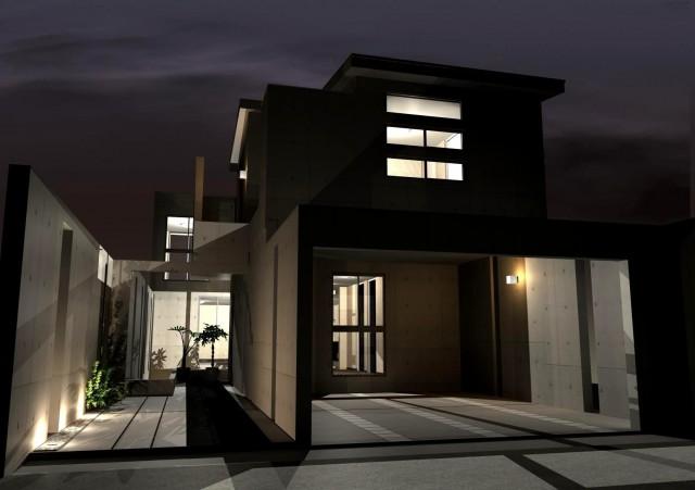 京都市北区上賀茂のRC造モダンな注文住宅