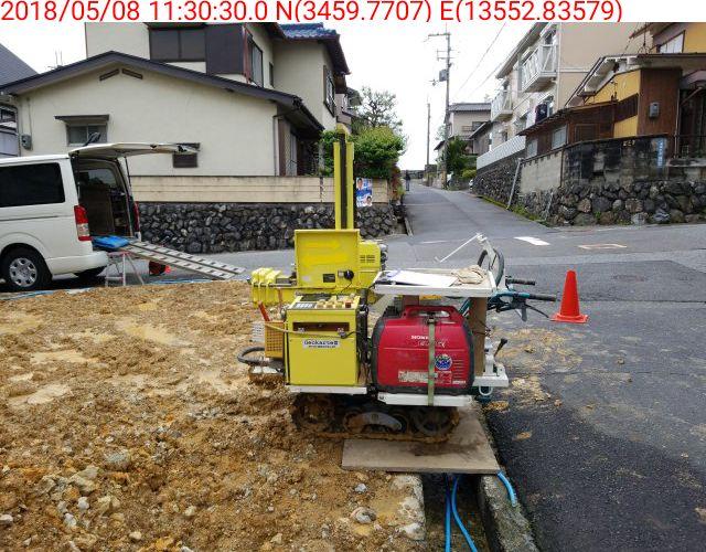 地盤調査・地盤改良|滋賀県大津市湖城が丘の高低差のある敷地のデザイナーズ住宅