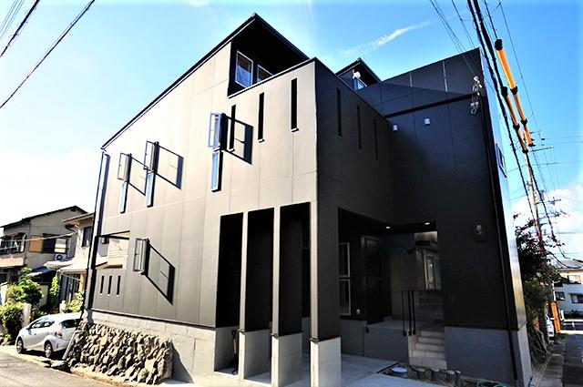 滋賀県 大津市 ルーフバルコニー おしゃれ かっこいい デザイン 注文住宅