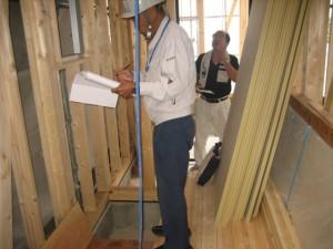 注文住宅,工事中,構造検査,中間検査,金物検査