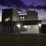 滋賀県 大津市 高低差敷地 地下駐車場 二世帯 ビルトインガレージ 高級デザイナーズ住宅豪邸 注文建築 デザイン住宅