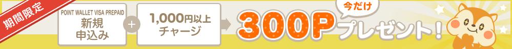 ポイントウォレットVISAプリペイド300Pキャンペーン