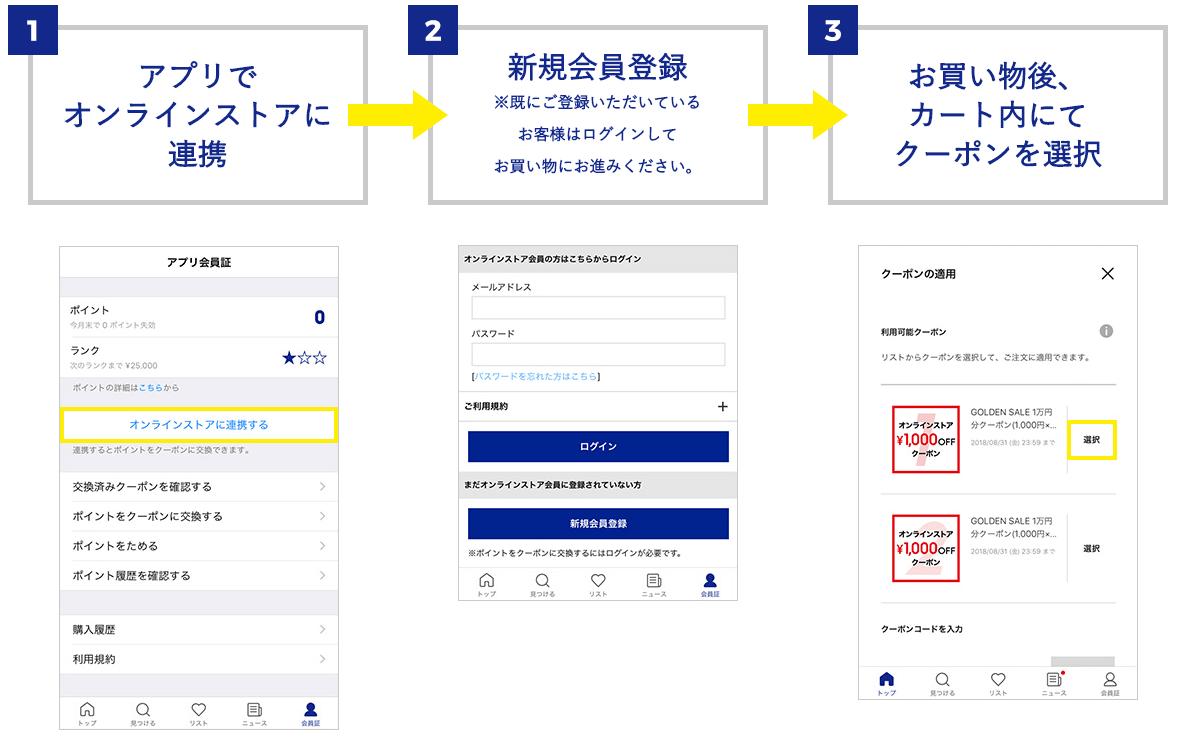 GUアプリクーポン利用方法