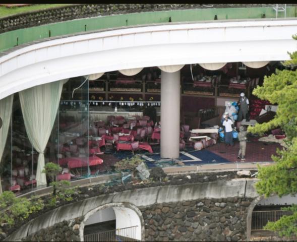 【台風12号】高潮で熱海のホテルのガラス割れる 男児ら5人けが/静岡