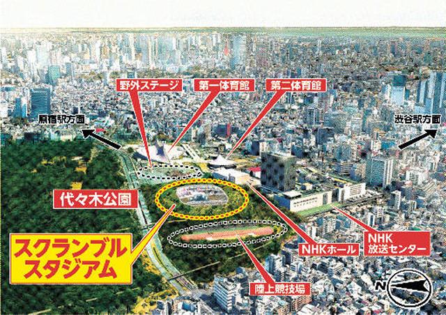 【渋谷に多目的スタジアム】<渋谷スクランブルスタジアム構想>民間主導で代々木公園内に多目的に使えるサッカースタジアムの建設を目指すことを発表!