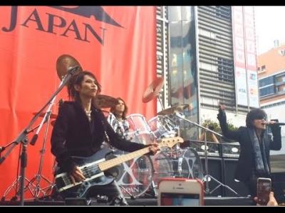【芸能人サプライズ(その他)】X JAPAN新宿をジャック!ゲリラライブでパニック寸前!
