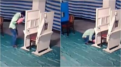 【衝撃!】赤ちゃんを捨てる前に父親はキスをした・・・