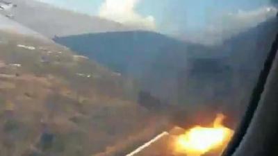 【衝撃!】南アフリカの旅客機が墜落・・・乗客が撮影した衝撃映像!