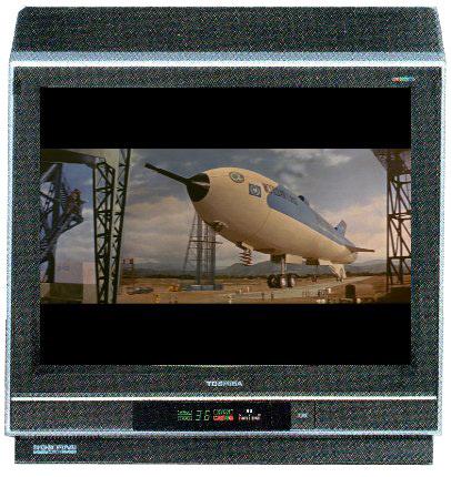 21型ブラウン管TV(東芝CORE)で観た『地球防衛軍』