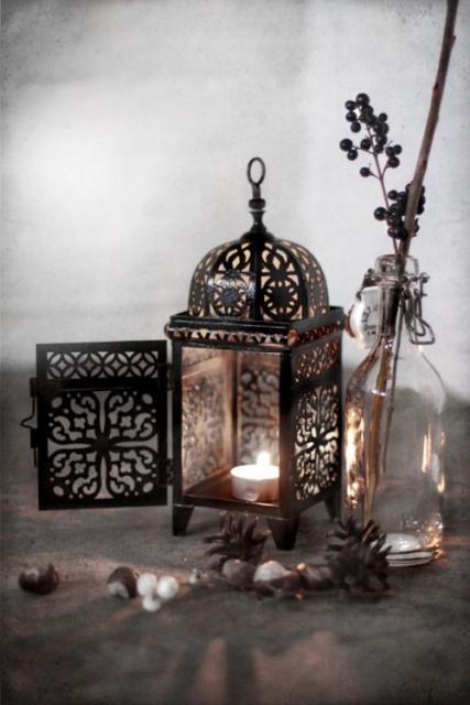00 ran Moroccan Lantern candle