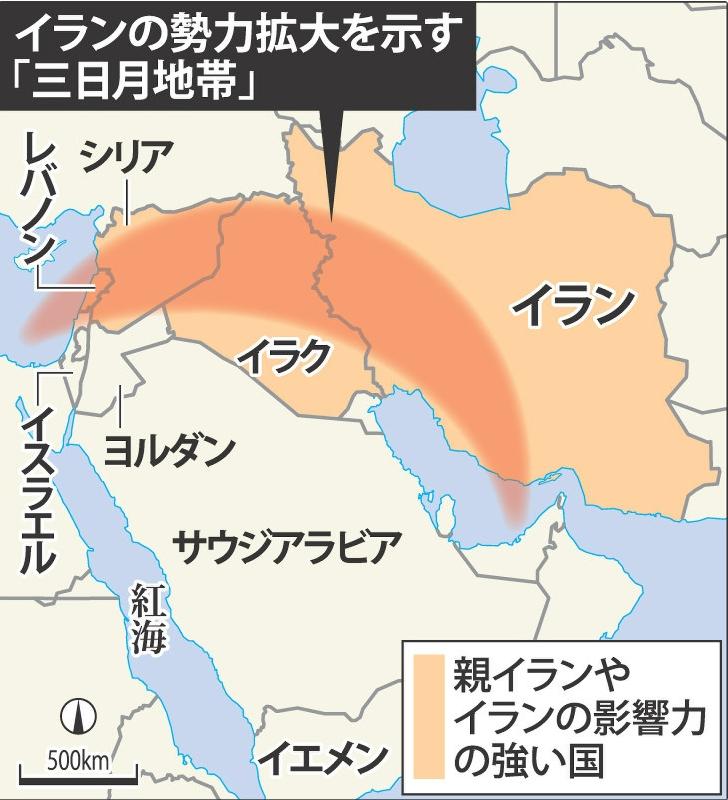 イランの勢力拡大_三日月地帯