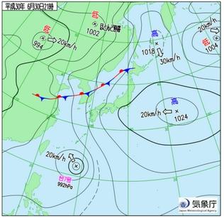 平成30年6月30日天気図