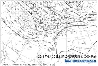平成30年6月30日高層天気図