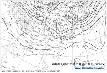 平成30年7月6日高層天気図