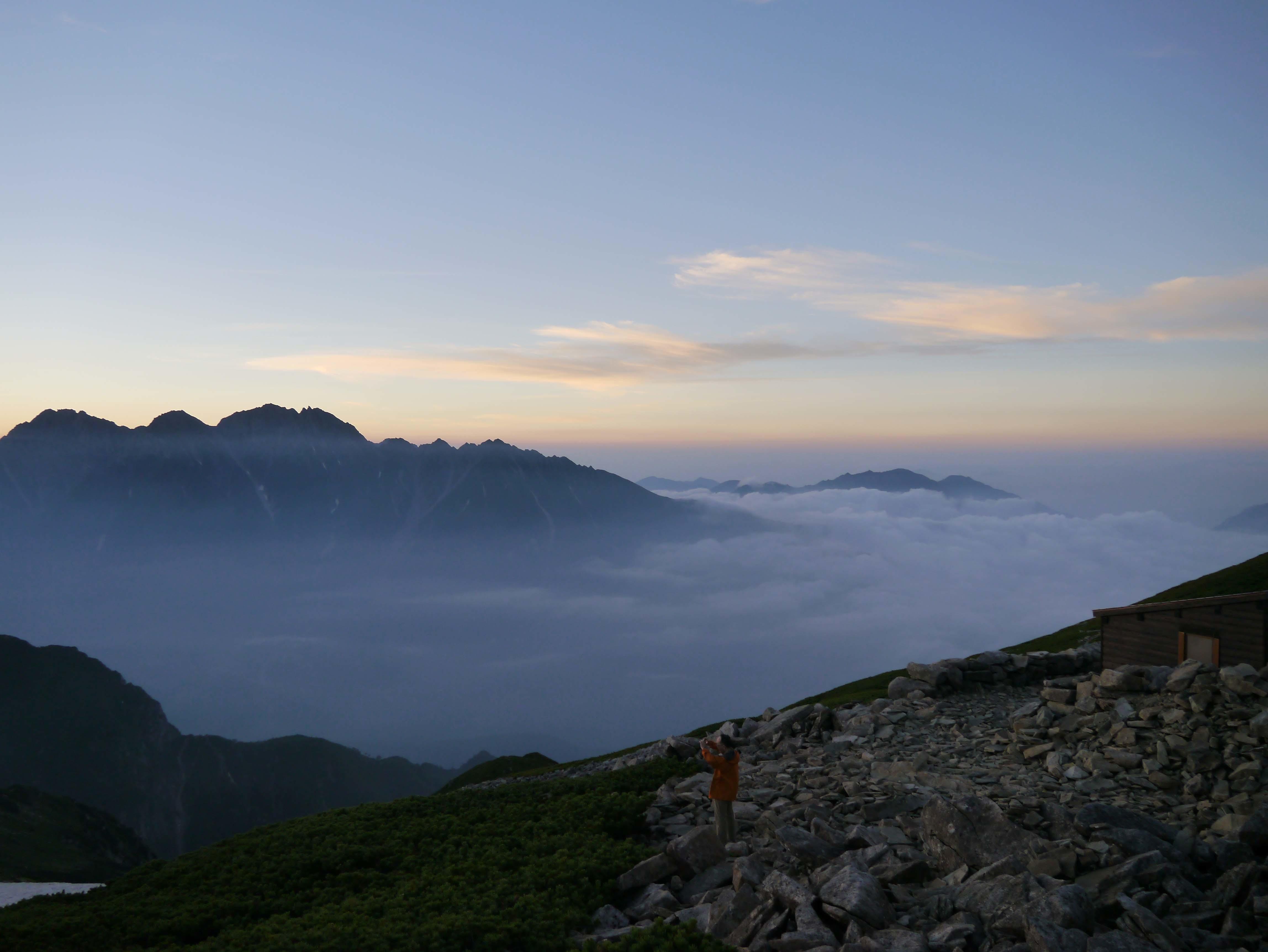 朝日と雲海B_180719