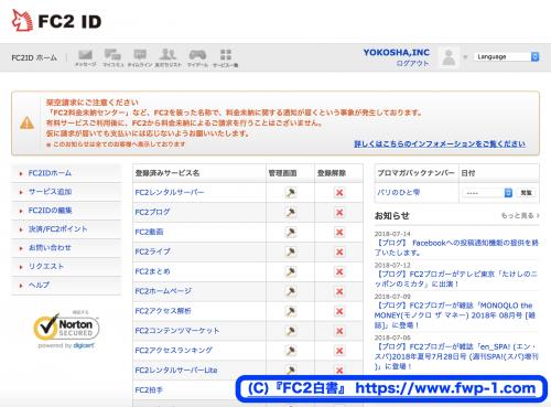 FC2IDにログインする3