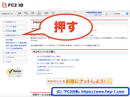 サイト登録でFC2ポイントを入手する方法4