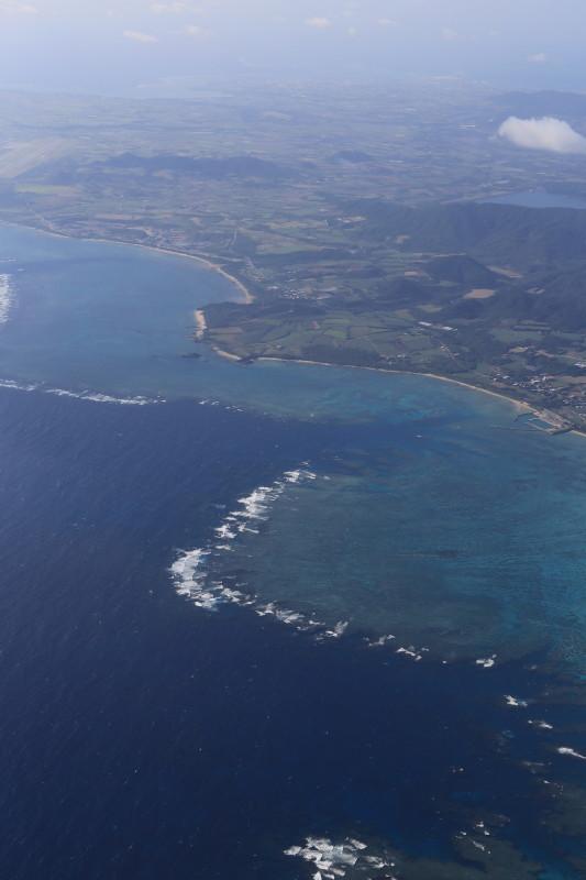 飛行機 沖縄 眺め