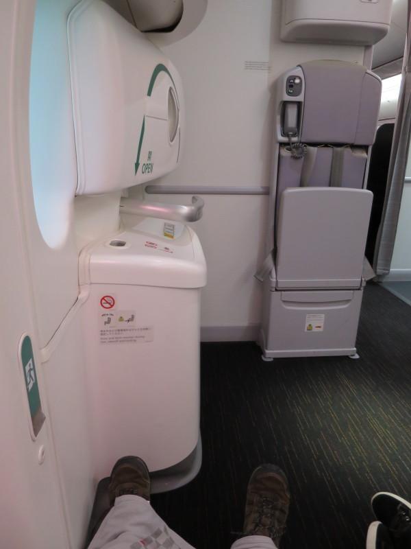 JAL B787-8 非常口席