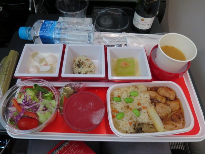 JAL JL771 成田-シドニー 機内食 プレミアムエコノミー