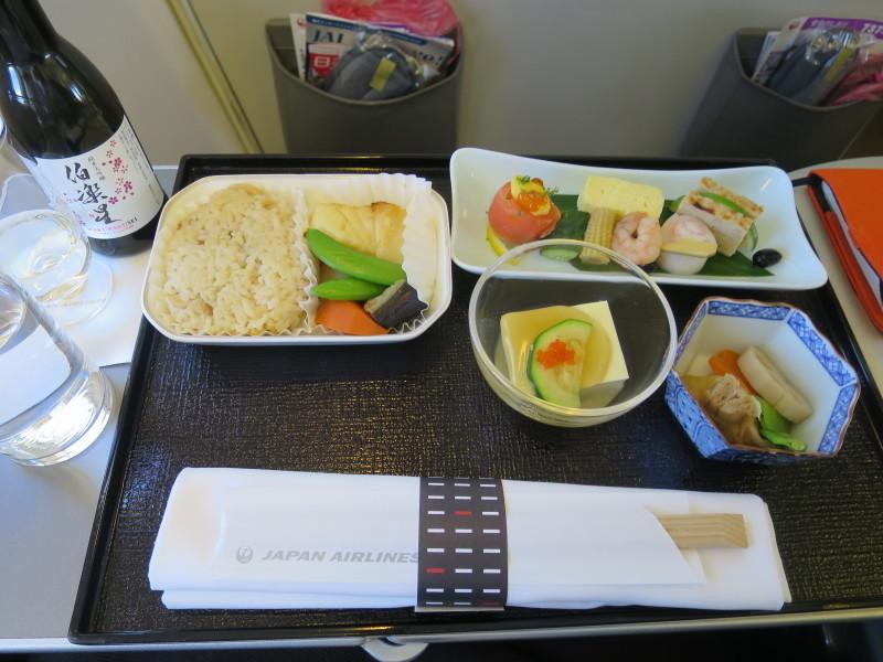 日本航空 ビジネスクラス 機内食