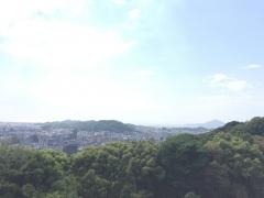 松山城から