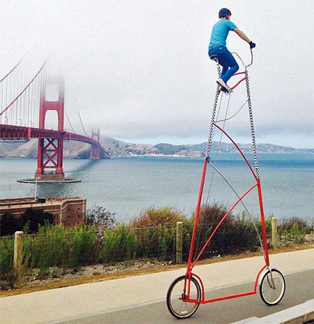 高すぎる自転車の画像(2枚目)