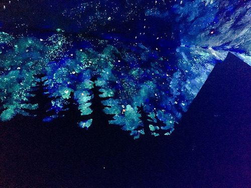 見えない塗料で描かれた星空の画像(5枚目)