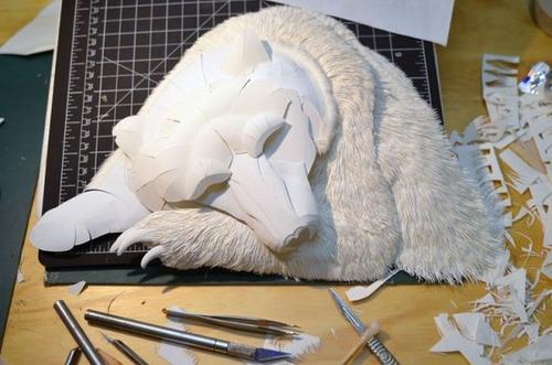 【画像】普通の紙で作る動物のペーパー・カッティング(切り絵)が凄い!!の画像(2枚目)