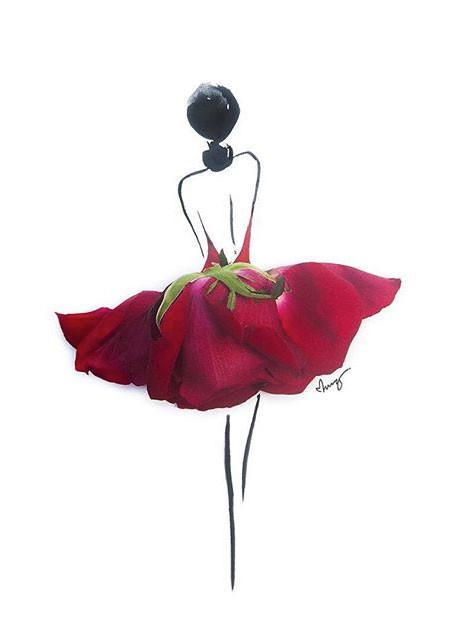 本物の花で描いたアートが華やかで癒される!!の画像(10枚目)