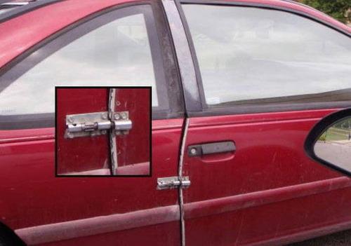 【画像】修理方法が驚異的に雑すぎて、凄いことになってる自動車の数々!!の画像(7枚目)