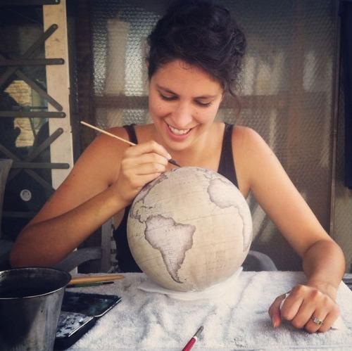 もはや芸術!手作りの地球儀「アトモスフェア」の製作風景が凄い!!の画像(13枚目)