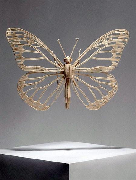 【画像】マッチ棒で作った昆虫のクオリティが凄い!!の画像(3枚目)