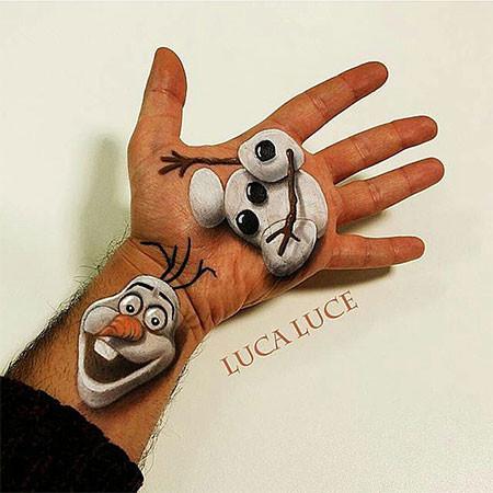 左手がオシャカになっちゃた!3Dアートですごい事になってる左手の画像の数々!!の画像(14枚目)