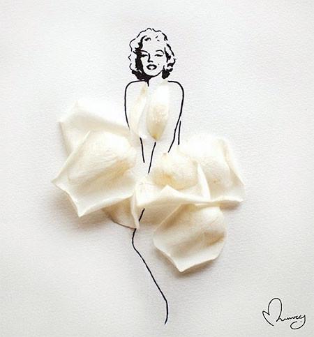 本物の花で描いたアートが華やかで癒される!!の画像(3枚目)