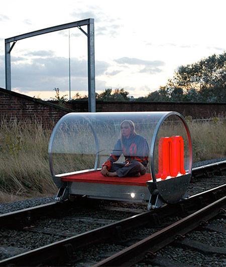 一人乗りの電車の画像(7枚目)