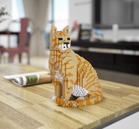 レゴで作ったネコの置物03