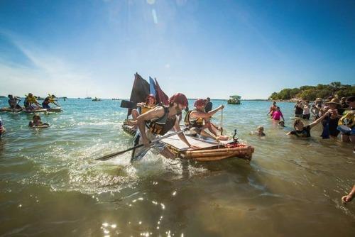 ビールの缶でボートを作って競争の画像(9枚目)