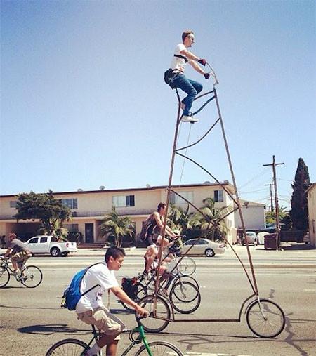 高すぎる自転車の画像(7枚目)