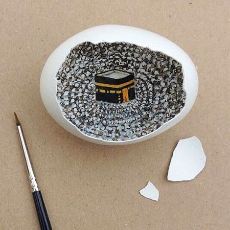 卵の中が別世界!卵の内側に絵を描くアートが面白い!!の画像(9枚目)