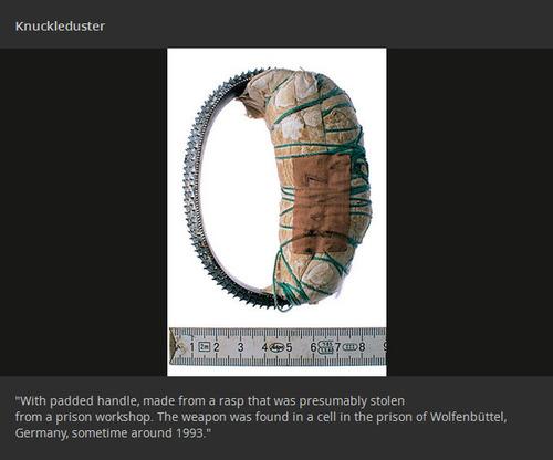 【画像】刑務所の囚人が作った隠し武器やガジェトの数々!!の画像(1枚目)