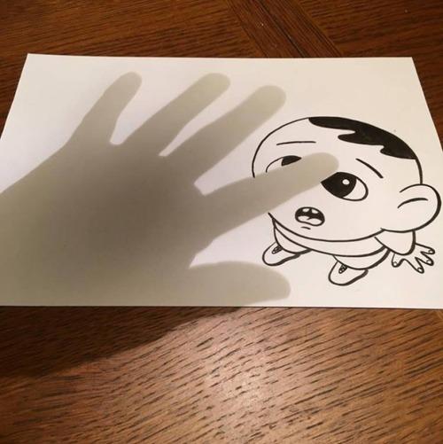 1枚の紙とペンで作った3Dアートの画像(21枚目)